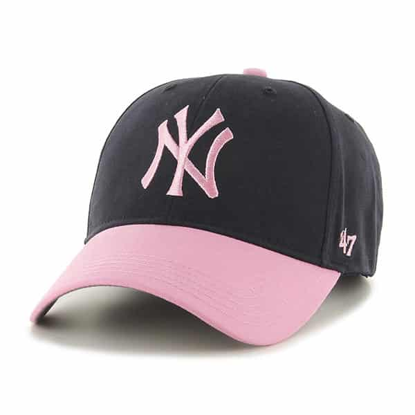 f0e104370b60b New York Yankees INFANT 47 Brand Baby Girls Navy Pink Stretch Fit Hat -  Detroit Game Gear