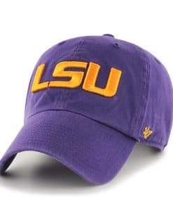 Louisiana State Tigers Lsu 47 Brand Purple Clean Up Adjustable Hat