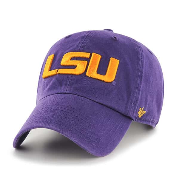 fe334acca93e73 Louisiana State Tigers Lsu 47 Brand Purple Clean Up Adjustable Hat -  Detroit Game Gear