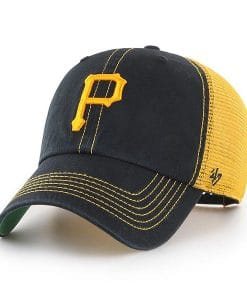 Pittsburgh Pirates 47 Brand Black Trawler Clean Up Adjustable Hat