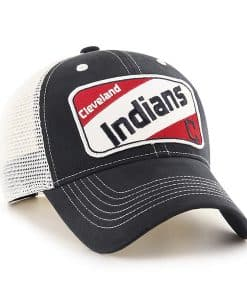 Cleveland Indians KIDS 47 Brand Navy Woodlawn MVP Adjustable Hat