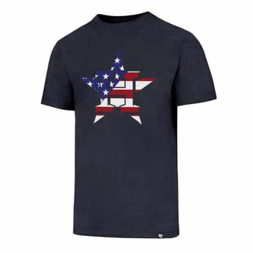 Houston Astros Men's 47 Brand Red White & Blue Club T-Shirt Tee