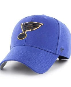 St Louis Blues 47 Brand Royal MVP Clean Up Adjustable Hat