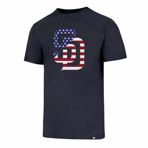 San Diego Padres Men's 47 Brand Red White & Blue Club T-Shirt Tee