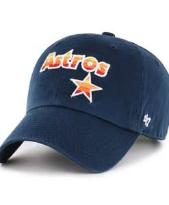 Houston Astros 47 Brand Navy Cooperstown Clean Up Adjustable Hat