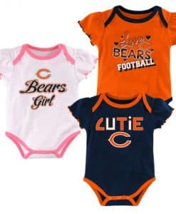 Chicago Bears Baby Girls 3-Pack Onesie Creeper
