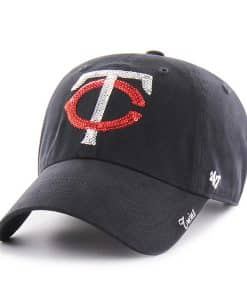 Minnesota Twins Women's 47 Brand Sparkle Navy Clean Up Hat
