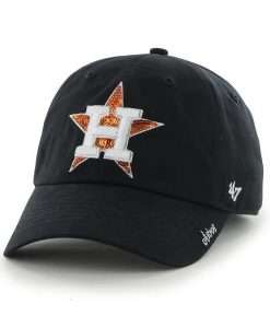 Houston Astros Women's 47 Brand Sparkle Navy Team Color Clean Up Hat