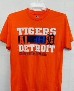 Detroit Tigers Orange AL Major League Baseball T-Shirt Tee