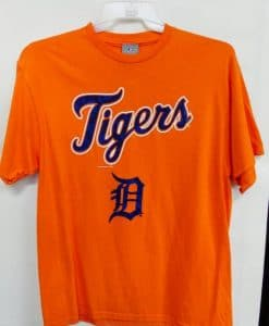 Detroit Tigers Orange Blue D T-Shirt Tee