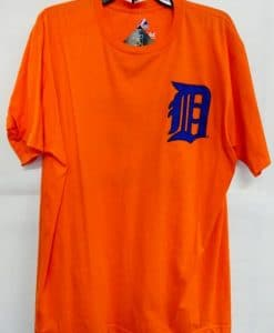 Detroit Tigers Majestic Orange Verlander #35 T-Shirt Tee