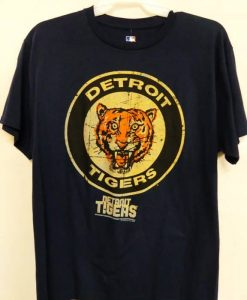 Detroit Tigers Navy Classic Logo T-Shirt Tee