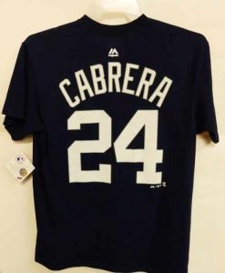 Detroit Tigers Navy Miguel Cabrera Number T-Shirt Tee