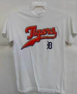 Detroit Tigers Majestic White T-Shirt Tee