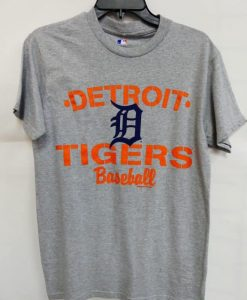 Detroit Tigers Gray Orange Baseball T-Shirt Tee