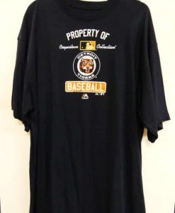 Detroit Tigers Navy Property of Tigers T-Shirt Tee