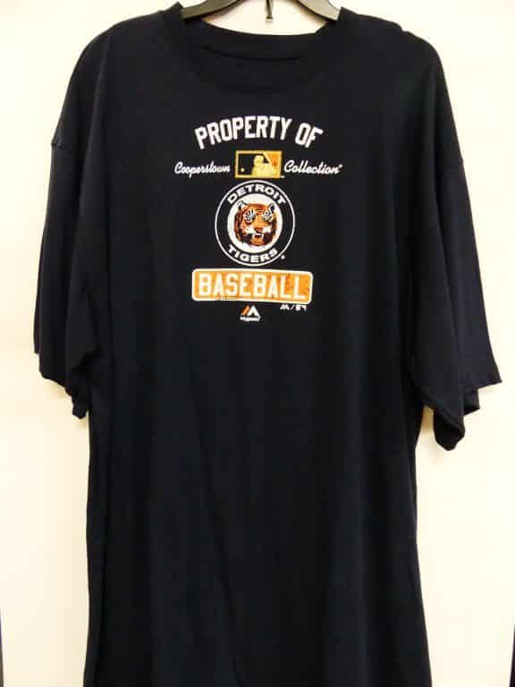 the latest 29711 fc4e3 Detroit Tigers Navy Property of Tigers T-Shirt Tee