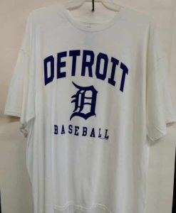 Detroit Tigers White Detroit Baseball T-Shirt Tee
