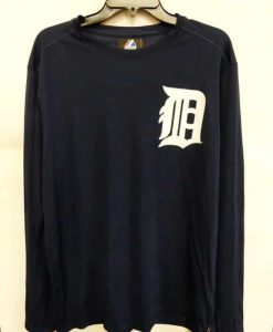 Detroit Tigers Majestic Navy Long Sleeve Shirt