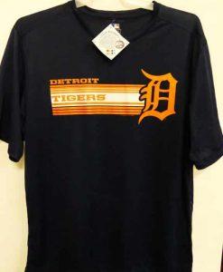 Detroit Tigers Navy Laser D Logo T-Shirt Tee