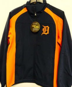 Detroit Tigers Road Navy Orange Full Zip Up Jacket