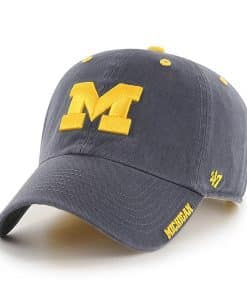 Michigan Wolverines 47 Brand Vintage Navy Ice Clean Up Adjustable Hat