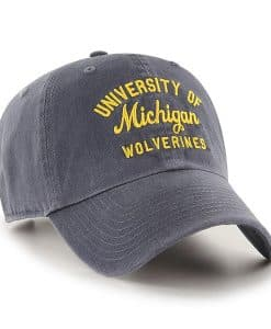 Michigan Wolverines 47 Brand U of M Vintage Navy Clean Up Adjustable Hat