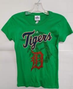 Detroit Tigers Women's Green Logo Tee