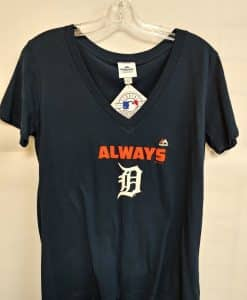 Detroit Tigers Women's Navy Tee