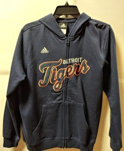 Detroit Tigers Youth Navy Zip Up Hoodie