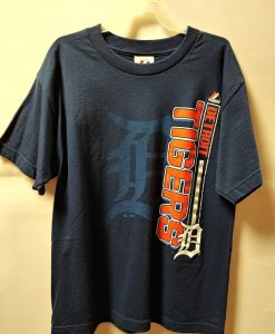 Detroit Tigers Youth Navy Tee