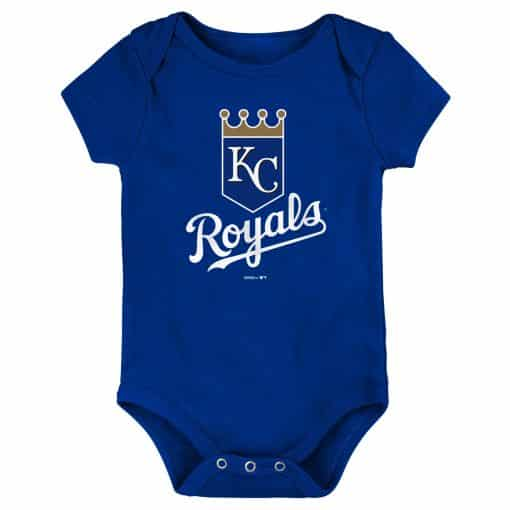 Kansas City Royals Baby Blue White Logo Onesie Creeper