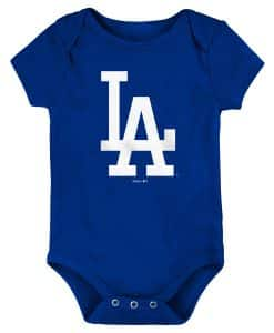 Los Angeles Dodgers Baby Blue White Logo Onesie Creeper