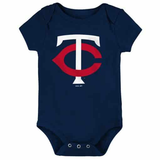 Minnesota Twins Baby Navy Blue White Red Logo Onesie Creeper