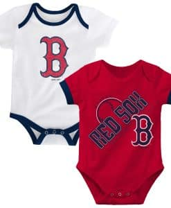 Boston Red Sox Red White 2-Pack Onesie Creeper
