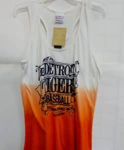 Detroit Tigers Orange White Tank