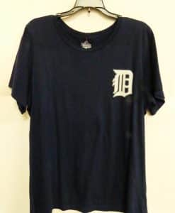 Detroit Tigers Women's Navy Logo Tee