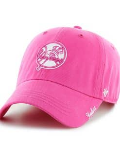 New York Yankees Women's 47 Brand Classic Pink Miata Clean Up Adjustable Hat