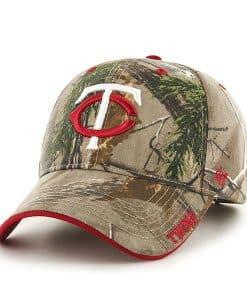 Minnesota Twins 47 Brand Realtree Camo Frost MVP Adjustable Hat