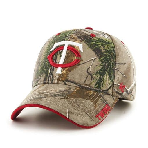 Minnesota Twins 47 Brand Realtree Camo Frost MVP Adjustable Hat