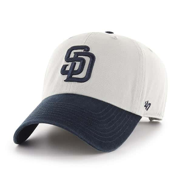 abf5090b1 San Diego Padres 47 Brand Gray Navy Clean Up Adjustable Hat
