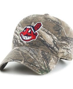 Cleveland Indians 47 Brand Realtree Camo Clean Up Adjustable Hat
