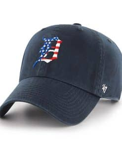 Detroit Tigers Red White & Blue 47 Brand Navy Classic Clean Up Adjustable Hat