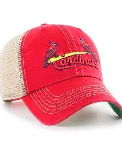 St. Louis Cardinals 47 Brand Trawler Red Clean Up Mesh Adjustable Hat