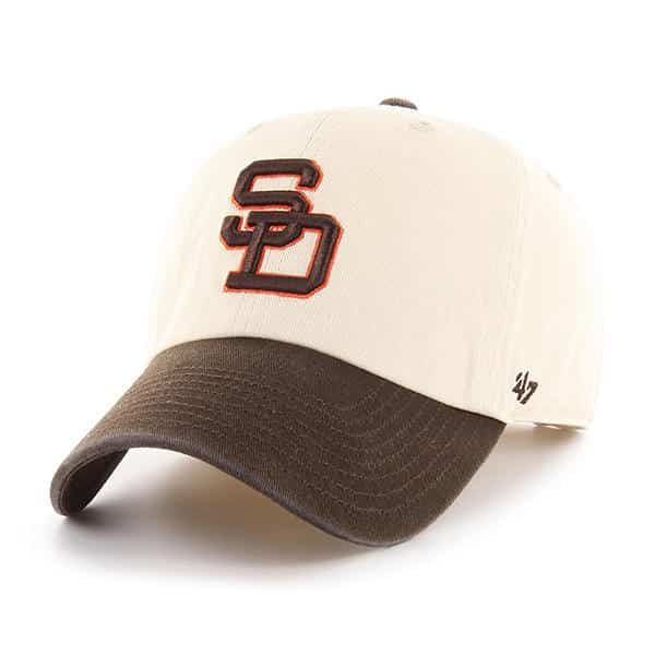 f933a3937 San Diego Padres 47 Brand Brown Natural Clean Up Adjustable Hat