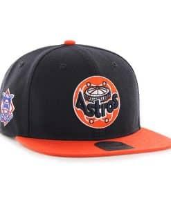Houston Astros 47 Brand Classic Sure Shot Navy Orange Adjustable Hat