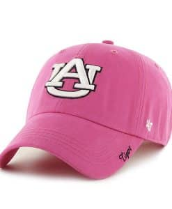Auburn Tigers Women's 47 Brand Pink Miata Clean Up Adjustable Hat