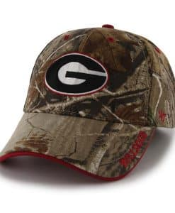 Georgia Bulldogs 47 Brand Realtree Camo Frost MVP Adjustable Hat