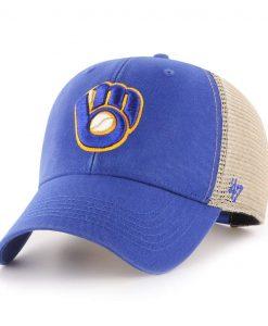 Milwaukee Brewers 47 Brand Flagship Blue MVP Mesh Adjustable Hat