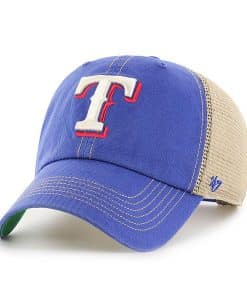 Texas Rangers 47 Brand Trawler Blue Clean Up Mesh Adjustable Hat